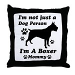 Boxer Mommy Throw Pillow