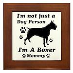Boxer Mommy Framed Tile
