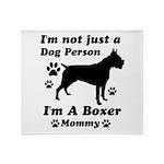 Boxer Mommy Throw Blanket