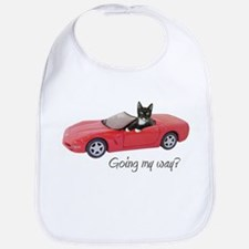 Cat in Red Car Bib