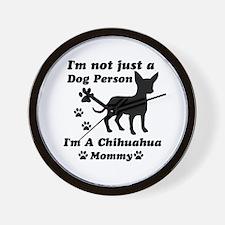 Chihuahua Mommy Wall Clock