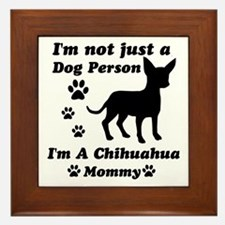 Chihuahua Mommy Framed Tile