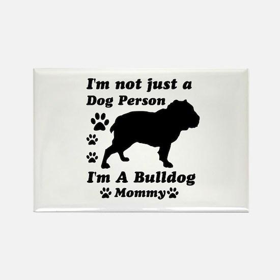 Bulldog Mommy Rectangle Magnet