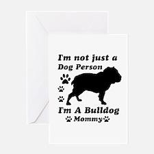 Bulldog Mommy Greeting Card