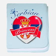 Serbian Princess baby blanket