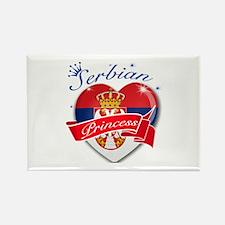 Serbian Princess Rectangle Magnet