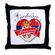 Serbian Princess Throw Pillow