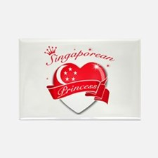 Singaporean Princess Rectangle Magnet