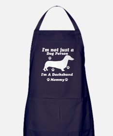 Dachshund Mommy Apron (dark)