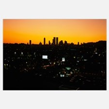 Silhouette of buildings in a city, Century City, C