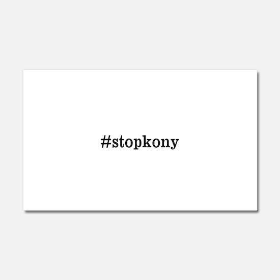 #stopkony dark Car Magnet 20 x 12
