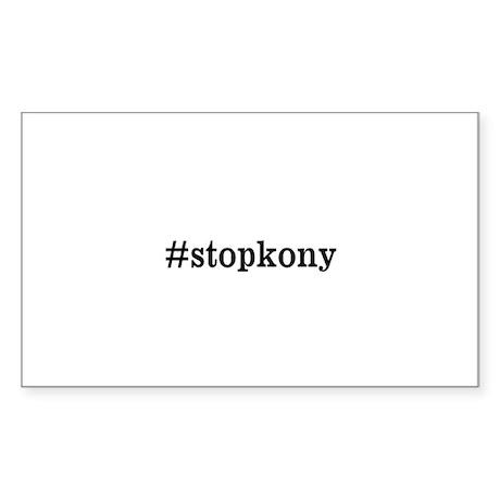 #stopkony dark Sticker (Rectangle)