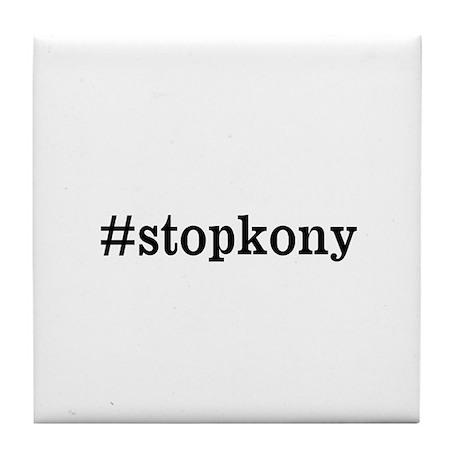 #stopkony dark Tile Coaster