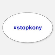 #stopkony blue Sticker (Oval)