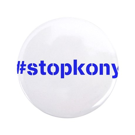 "#stopkony blue 3.5"" Button (100 pack)"
