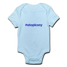 #stopkony blue Infant Bodysuit