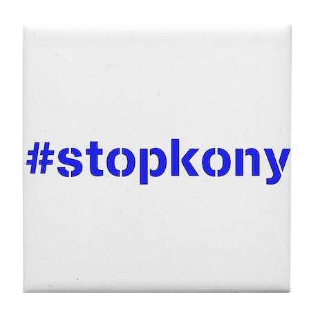 #stopkony blue Tile Coaster