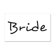 "Pretty ""Bride"" Text - 1 - Car Magnet 20 x 12"