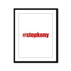 #stopkony Uganda Framed Panel Print