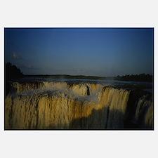 Water falling from cliffs, Iguazu Falls, Iguazu Ri