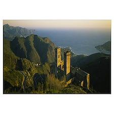 High angle view of a monastery, San Pedro De Roda,
