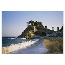 Tourist resort on the beach, Tossa De Mar, Costa B