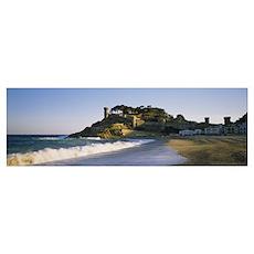 Tourist resort on the beach, Tossa De Mar, Costa B Poster