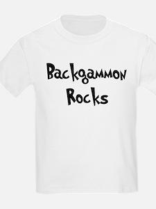 Backgammon Rocks Kids T-Shirt