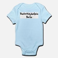 Handwriting Analysis Rocks Infant Creeper