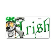 Irish Pirate Scull and Bones Aluminum License Plat