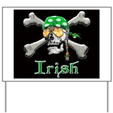 Irish Pirate Scull and Bones Yard Sign