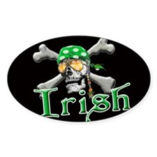 Irish Pirate Scull and Bones Decal