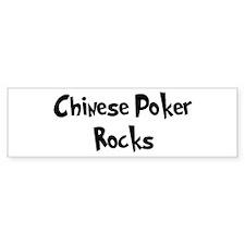 Chinese Poker Rocks Bumper Bumper Sticker