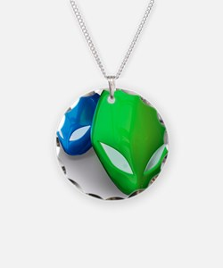 Funny Green aliens Necklace