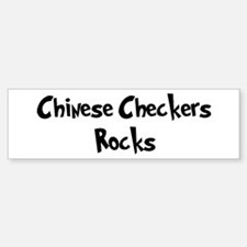 Chinese Checkers Rocks Bumper Bumper Bumper Sticker