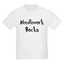 Needlework Rocks Kids T-Shirt