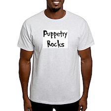 Puppetry Rocks Ash Grey T-Shirt