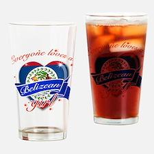 I heart Belizean Designs Drinking Glass