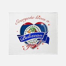 I heart Belizean Designs Throw Blanket