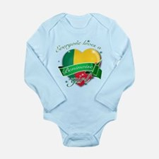 I heart Beninoise Designs Long Sleeve Infant Bodys