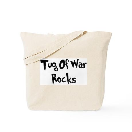 Tug Of War Rocks Tote Bag