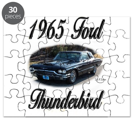 1965 Black Ford Thunderbird Puzzle