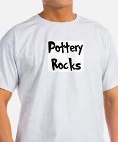 Pottery Rocks Ash Grey T-Shirt