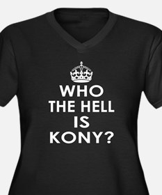 Who The Hell Is Kony? Women's Plus Size V-Neck Dar