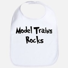 Model Trains Rocks Bib