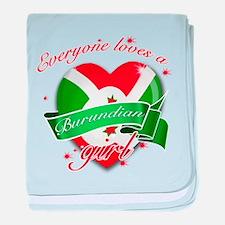 I heart Burundian Designs baby blanket