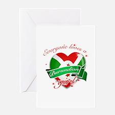 I heart Burundian Designs Greeting Card