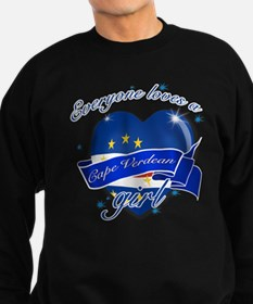 I heart Cape verdean Designs Sweatshirt (dark)