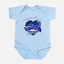 I heart Cape verdean Designs Infant Bodysuit