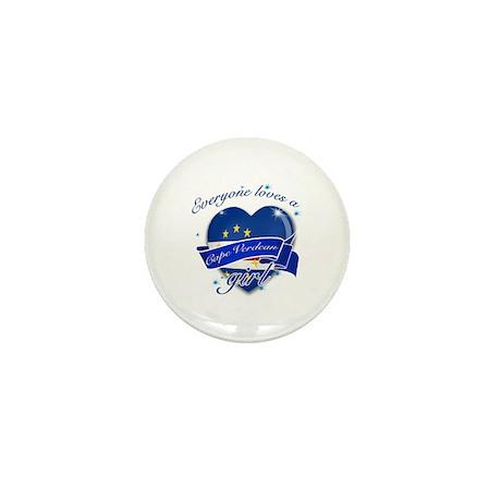 I heart Cape verdean Designs Mini Button